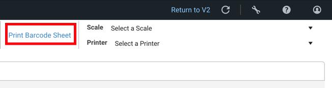 Écran Scanner pour validation, le lien Imprimer la liste de codes-barres est encadré en rouge